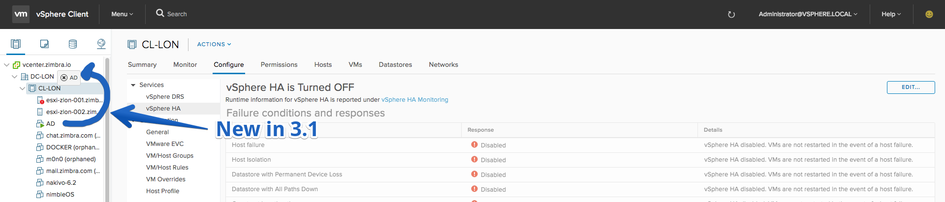 VMware: vSphere HTML5 Web Client Fling - Changelog v3 10 and
